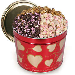Valentine's Day Chocolate Popcorn Trio