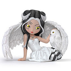 Fairy and Owl Snowie Figurine