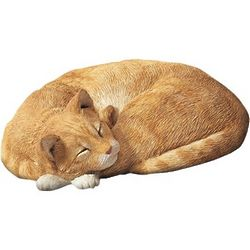 Orange Cat Life Size Figurine