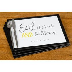 Personalized Eat Drink and Be Merry Placemats
