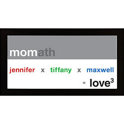Personalized Mom Exponential Love Framed Print