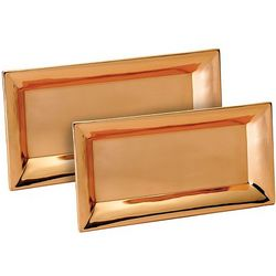 Handcrafted Copper Rectangular Tray