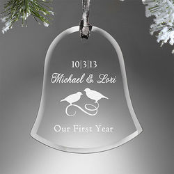 Anniversary Bell Engraved Ornament