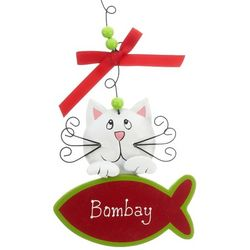 Personalized Cat Christmas Ornament