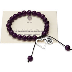 Love Makes the Ride Worthwhile Amethyst Stone Bracelet