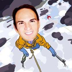 Your Photo in a Cliff Climber Caricature