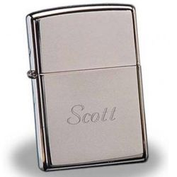 Personalized Zippo Clean and Sleek High Polish Chrome Lighter