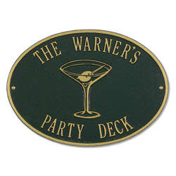 Martini Hawthorne Party Sign