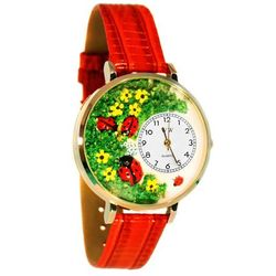Large Ladybugs Watch in Gold