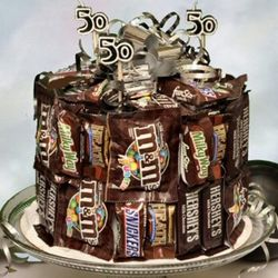Over the Hill Candy Bar Cake