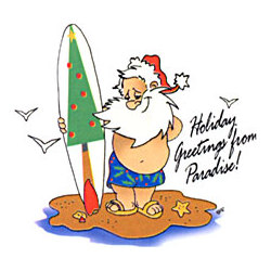 Santa Surfer T-Shirt