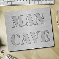 Stamped Steel Man Cave Mousepad