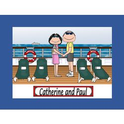 Personalized Cruise Ship Cartoon