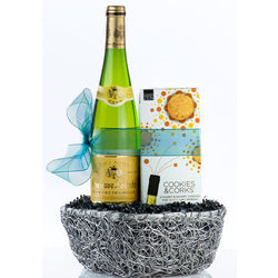 Cookies and Corks White Wine Gift Set
