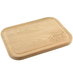 Personalized Monogrammed Solid Cherry Cutting Board