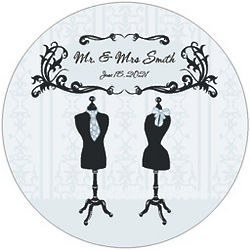 Mr. & Mrs. Wedding Floor Decal