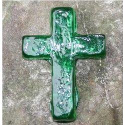 Hope Glass Emerald Green Pocket Cross