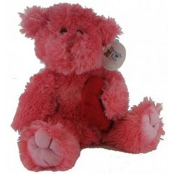 Plush Pink Teddy Bear with Heart