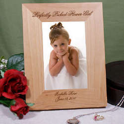 Perfectly Picked Flower Girl Personalized Wood Picture Frame