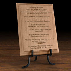 Personalized Words of Wisdom Wooden Plaque