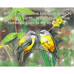 Warbler Duet Personalized Art Print