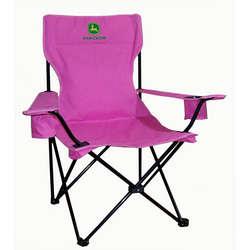 John Deere Pink Folding Camp Chair