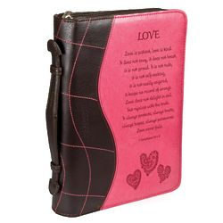 Bible Cover with Debossed Love Bible Verse