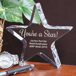 You're a Star Awareness Sponsor Star Keepsake