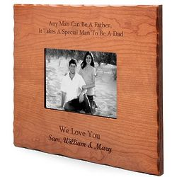 Personalized Special Man to be a Dad Cherry Wood Picture Frame