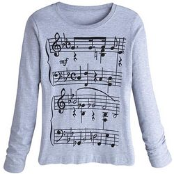 Musical Notes Longsleeve Shirt