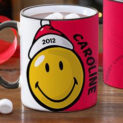 Kid's Smiley Face Personalized Christmas Mug