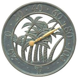 Palm Indoor/Outdoor Wall Thermometer
