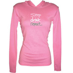 Sleep/Drink/Repeat Women's Long-sleeve Hoodie