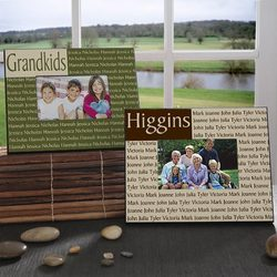 Family Name Custom Picture Frame with Laminate Finish
