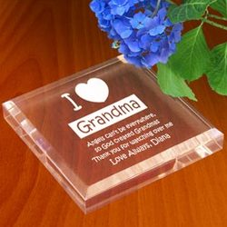 Personalized I Love Paperweight
