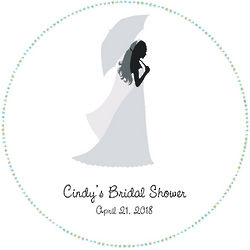 Birde with Umbrella Bridal Shower Floor Decal