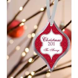 Personalized Elegant Christmas Ornament