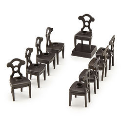 Bronze Chair Menorah
