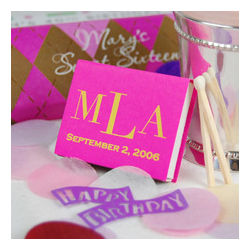 Personalized Matches Party Favors
