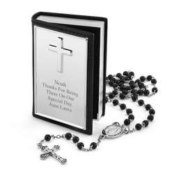 Boy's Rosary and Personalized Box