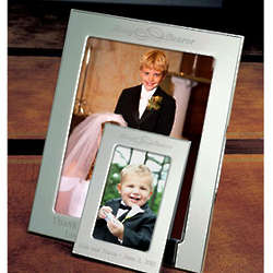 Personalized Ring Bearer Silver Picture Frame