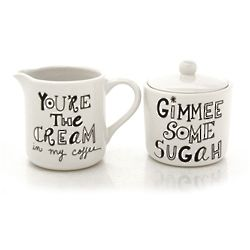 Cream and Sugah Creamer Set