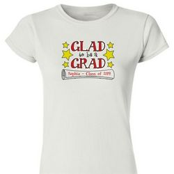 Ladies Personalized Graduation Fitted T-Shirt