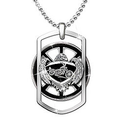 Ride Forever Motorcycle Pendant