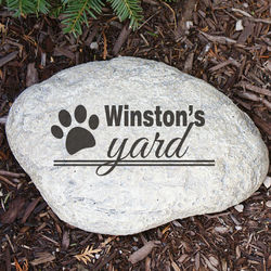 Engraved Dog's Yard Garden Stone