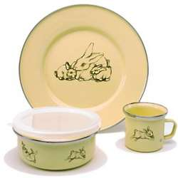 Yellow Bunny Dish Set