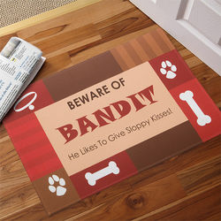 Beware of Dog Personalized Doormat