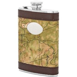 Personalized Map of the World Flask