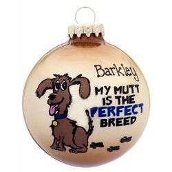Personalized Mutt Christmas Ornament