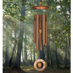 Aluminum Wind Chime with Brown Jasper